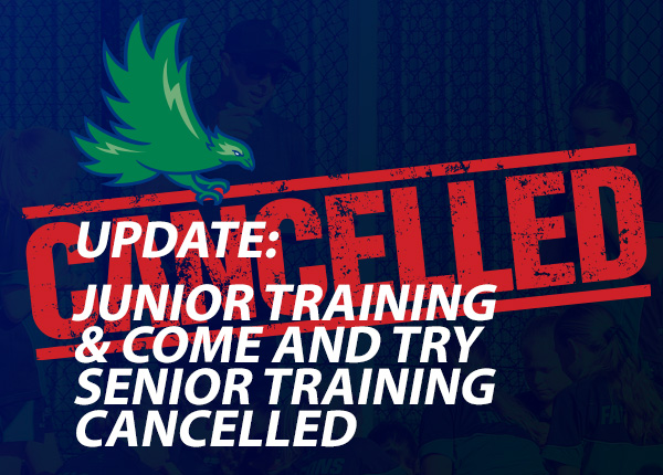 CANCELLED Come & Try Clinic, Junior Training, Senior Training