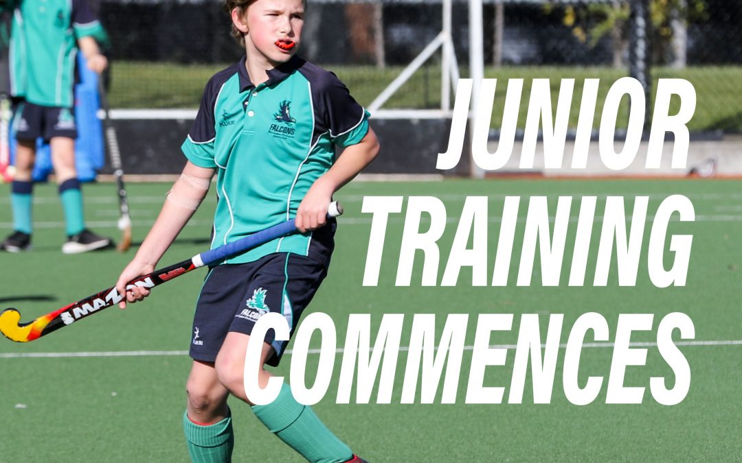 Junior Training Starts 9th March